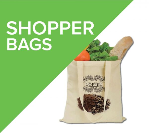 Cotton shopping bags are an eco friendly alternative to single use plastic bags