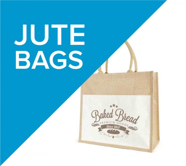Made from natural Jute material, promotional Jute bags are a true bag for life