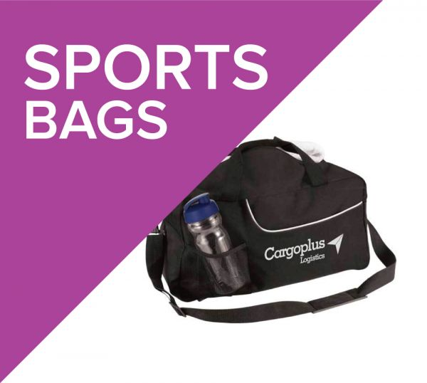 Promotional sports bags branded with your logo or design