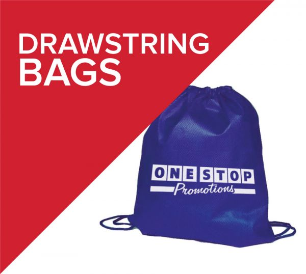 Drawstring bags, also known as tote bags are perfect as school bags or cheap giveaway bags