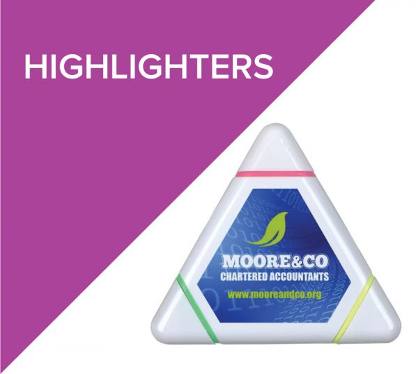 Highlighters with printed logo