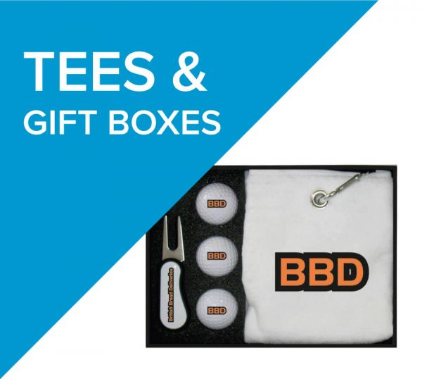 Golf Tees and Gift Boxes