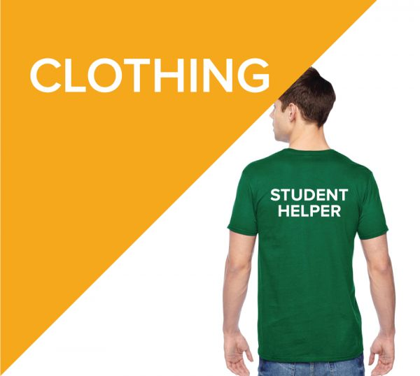 Promotional clothing for Universities