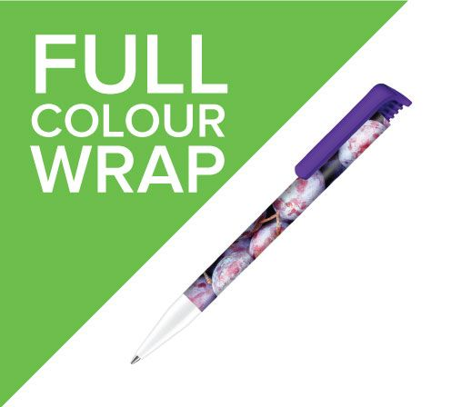 Promotional pens with full colour wrap