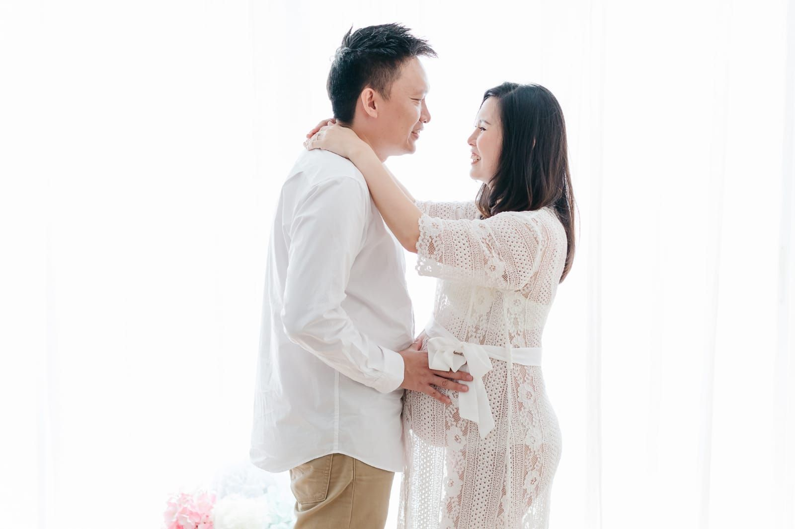 d21b081c360 Forever and Ever Lace Maternity Robe