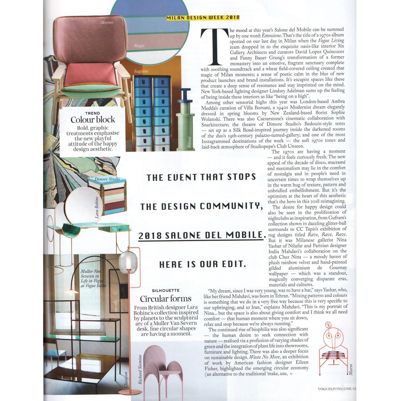 92e2616ec5 Dezeen, January 2019 Interni Magazine, 2019 ELLE Decoration ...