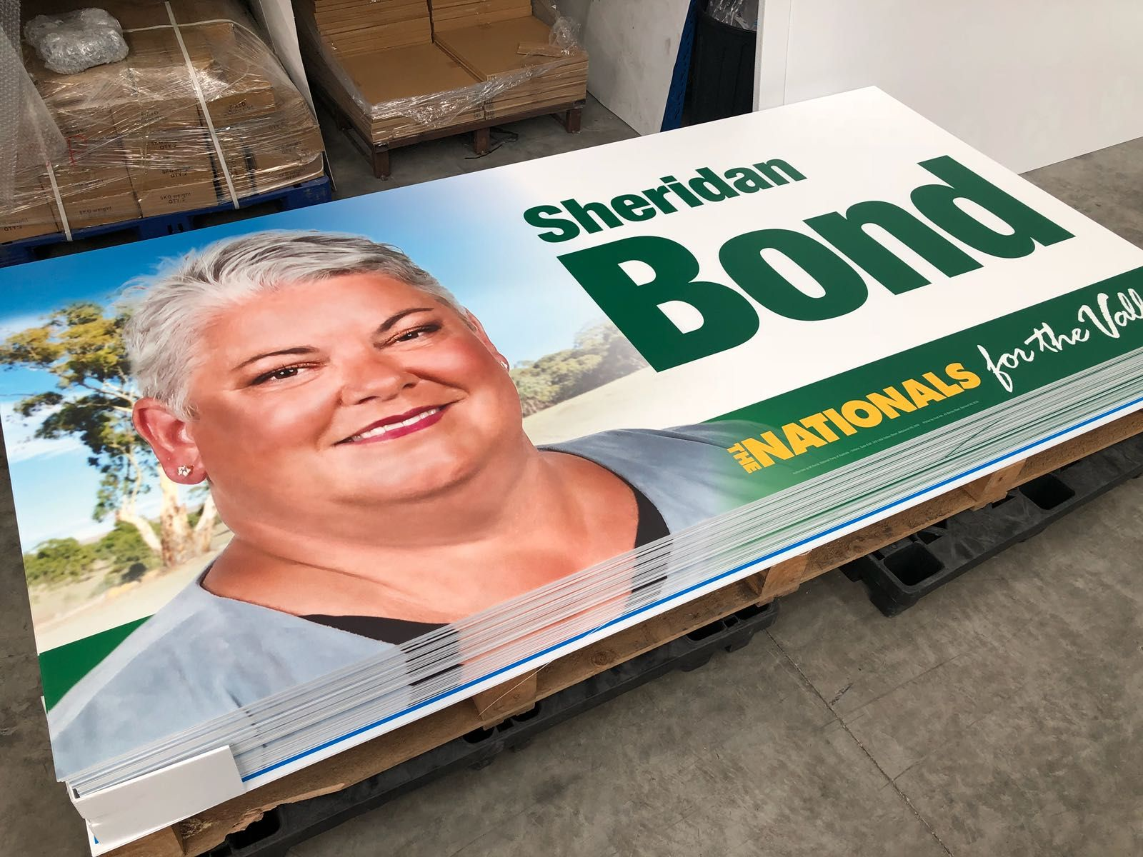 Modular Exhibition Stands Election : Corflute election signs corflute plastic signs vivid ads